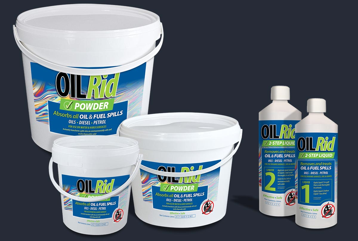 OilRid waterless remediation products